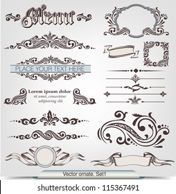 Vector ornate. Set 1