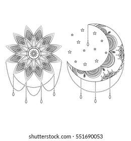 Crescent Moon Stars Gorseller Stok Fotograflar Ve Vektorler