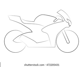 Outline Motorcycle Images Stock Photos Vectors Shutterstock