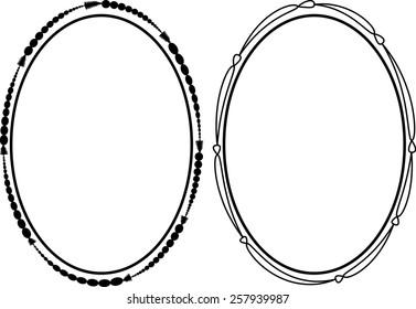 vector oval frame stock vector royalty free 257941469 shutterstock