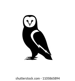 vector owl silhouette