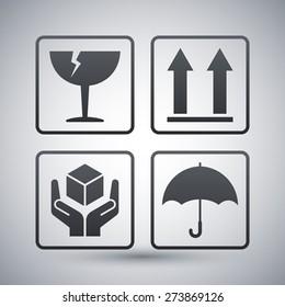 Vector packaging symbols