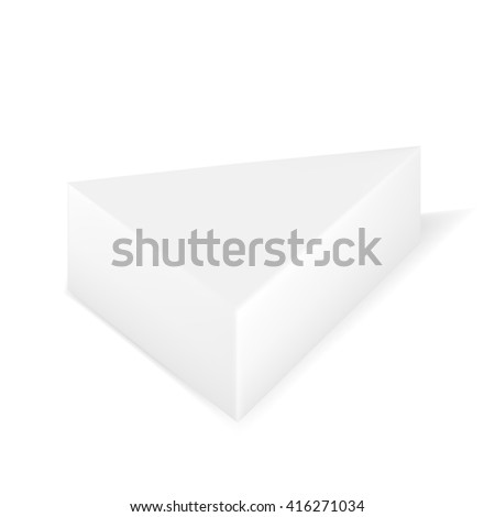 Vector Packaging White Gray Triangle Packaging Stock Vector Royalty