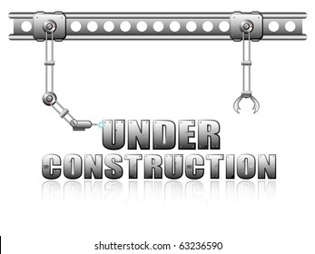 """Vector page """"Under Construction"""" for web design"""