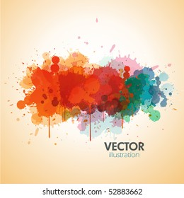 Vector paint background design