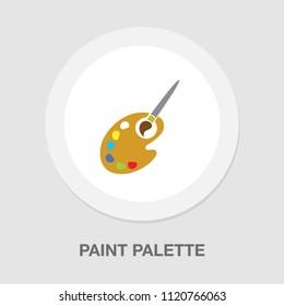 vector paint palette illustration - art icon, creative design tool