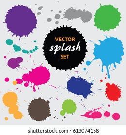 Vector paint splashes collection.
