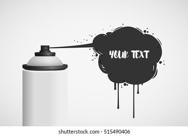 Vector paint spray isolated on a white background