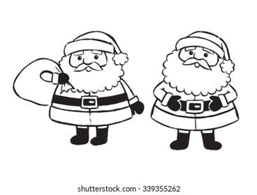 Vector painted Santa