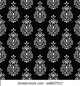Vector paisley seamless pattern