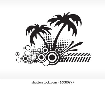 vector palm tree series logo isolated on white