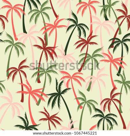 vector palm trees leaves pattern jungle stock vector royalty free