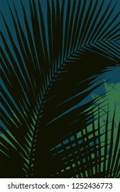 Vector palms leafs background