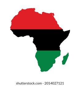 Vektor-Panafrikanische Karte auf weißem Hintergrund