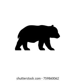 vector panda bear silhouette
