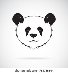 Vector of a panda head design on white background. Wild Animals. Easy editable layered vector illustration.