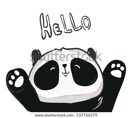 vector panda illustration panda vector illustration stock vector