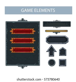 Vector panel, buttons for game interface