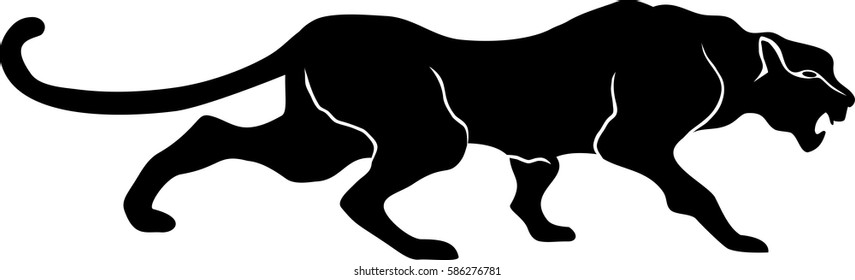 vector, Panther, black, draw, cat, art, clip, drawing