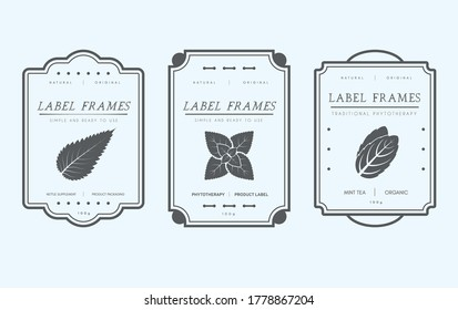 Vector Pantry label collection. Vintage packaging design templates for Herbs and Spices, dried fruit, vegetables, nuts and other organic products.