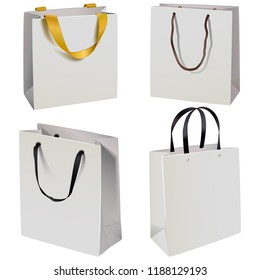 Vector Paper Bag Icons isolated on white background
