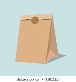 Vector paper bag illustration.