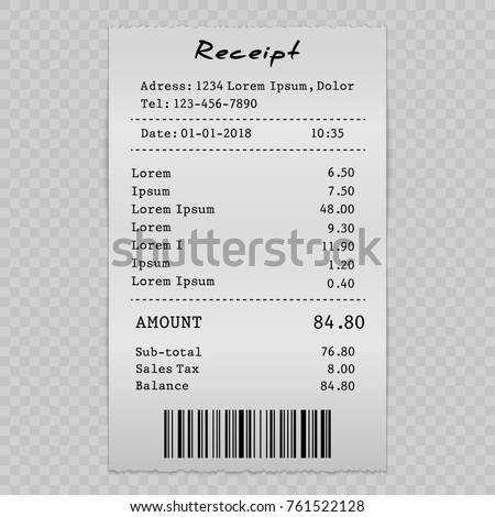 vector paper check sell receipt bill のベクター画像素材