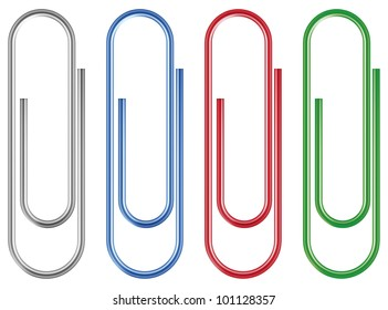 Vector paper clip isolated over white background