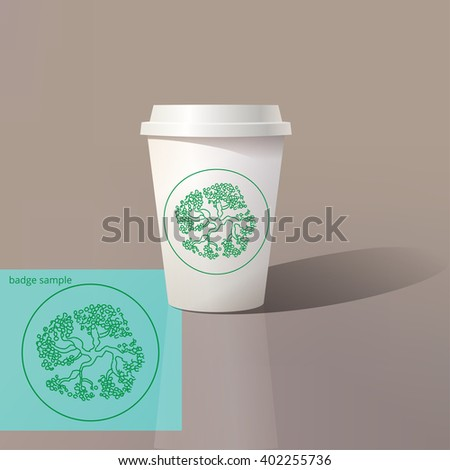 vector paper cup template design paper のベクター画像素材