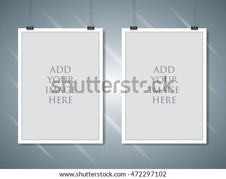 Vector Paper Empty A 4 Frame Mockup Stock Vector (Royalty Free ...