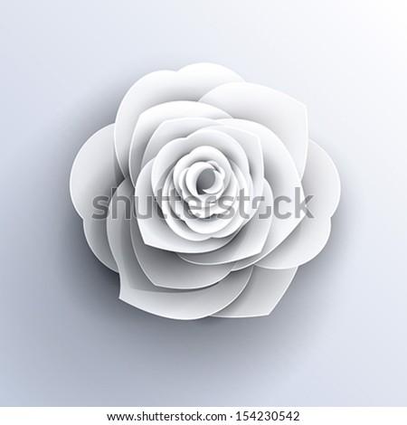Vector Paper Flower Origami Icon Stock Vektorgrafik Lizenzfrei