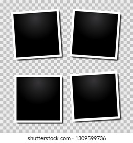 Vector paper frame isolated on transparent background - Vector