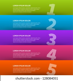 Vector paper lines and numbers design template for web site. Vector illustration.