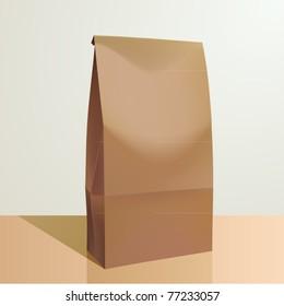 vector paper lunch bag