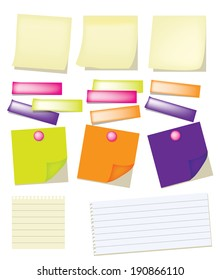 Vector of Paper note