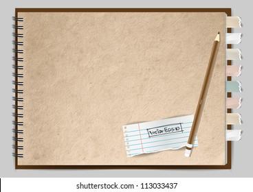 Vector paper notebook design