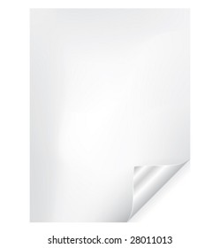 Vector paper page curl with silver corner