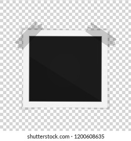 Vector paper Polaroid frame isolated on transparent background