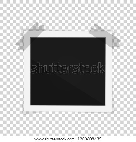 vector paper polaroid frame isolated on stock vector royalty free