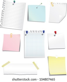 Vector paper and post-it collection