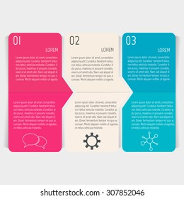 Vector paper progress steps for tutorial. Option infographic banners. Number banners template for diagram, graph, presentation or chart. Business concept sequence banners. EPS10 workflow layout.