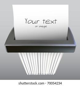 vector paper shredder illustration