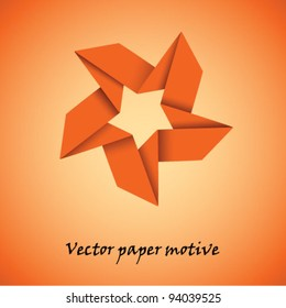 Vector paper star motive