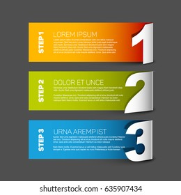 Vector Paper Steps Progress background / product choice or versions