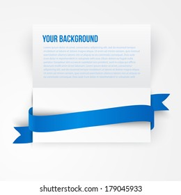 Vector paper template banner. White note Vector.