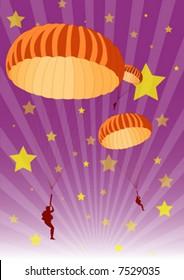 vector parachuters