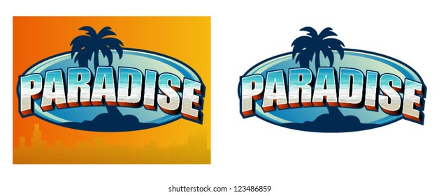 Vector Paradise Sign