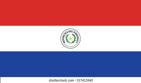 Vector Paraguay flag, Paraguay flag illustration, Paraguay flag picture, Paraguay flag image