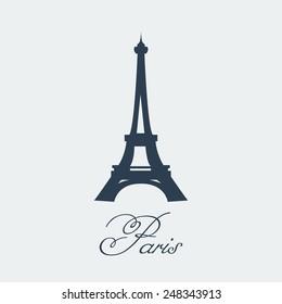 Vector Paris Eiffel Tower