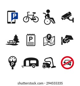 Vector parking icon set 02